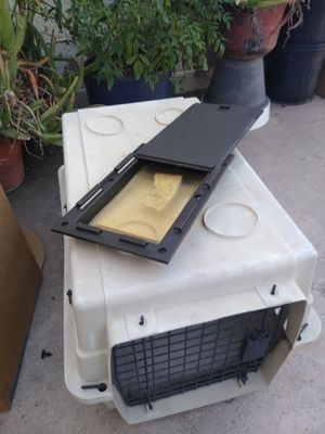 Small Dog Crate/and Doggy Door for Sale in Glendale, AZ