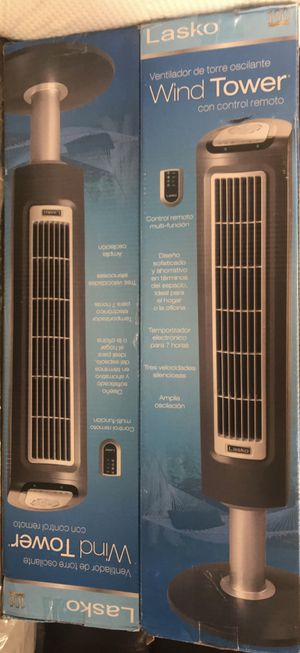 Brand New: Lasko 2519 Wind Tower Fan with Remote Control for Sale in Los Angeles, CA