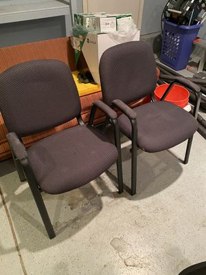 Free - Stackable reception office chairs for Sale in Escondido, CA