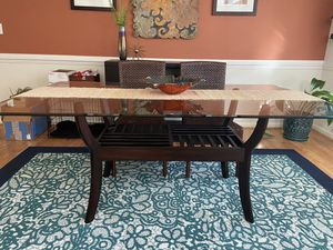 Glass Dining Table for Sale in Virginia Beach, VA