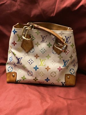 """Louis Vuitton"" Audra White and Multicolor Bag for Sale in Whittier, CA"