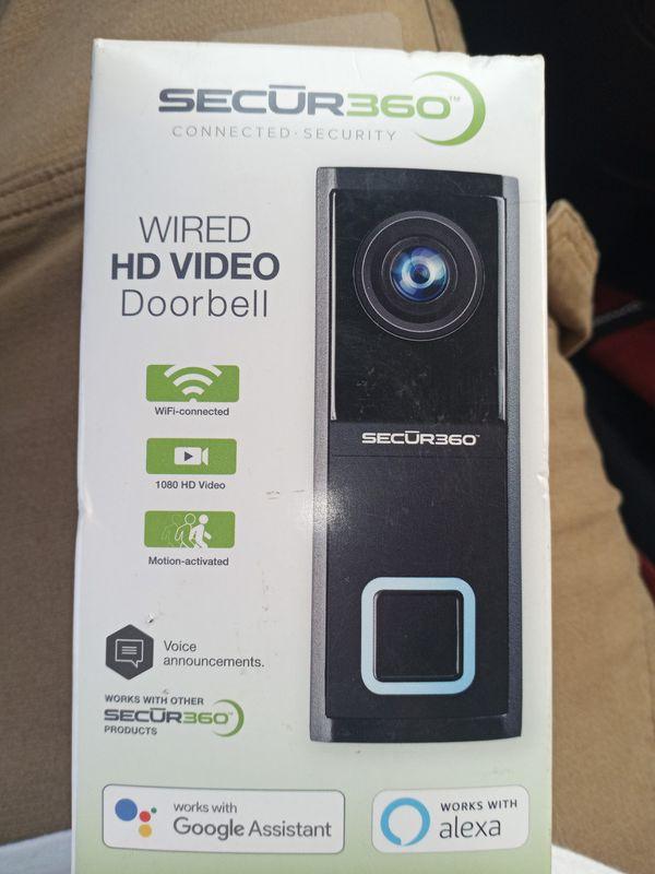 Secur360 1080 HD doorbell camera