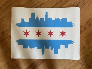 Chicago flag skyline print on canvas for Sale in Chicago, IL