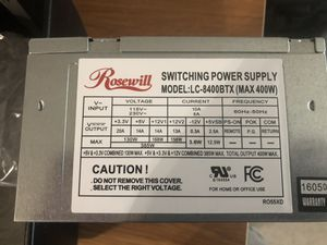 Rosewill Power Supply 400w for Sale in Tallahassee, FL