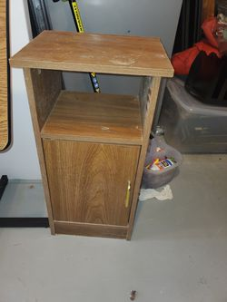 Small side table with front cabinet for Sale in Austin,  TX