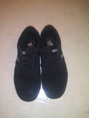 Size 8.5 black vans for Sale in Kernersville, NC