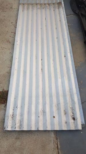 (five) 8ft x 26in wide corrugated metal sheets for patio shed storage etc for Sale in Garden Grove, CA