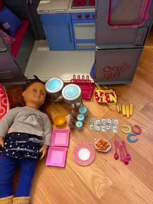 Our generation doll, backpack, and trailer for Sale in Newark, CA