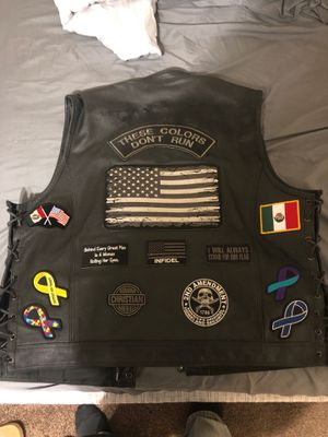 Club style motorcycle vest size 54 for Sale in Mesa, AZ