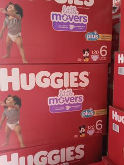 Huggies Little Movers Size 6/120 Diapers for Sale in Carson,  CA