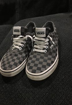 Gray checkered vans for Sale in Pekin,  IL
