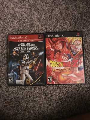 Dragon Ball budokai and star wars battlefront 2 for ps2 for Sale in Raleigh, NC