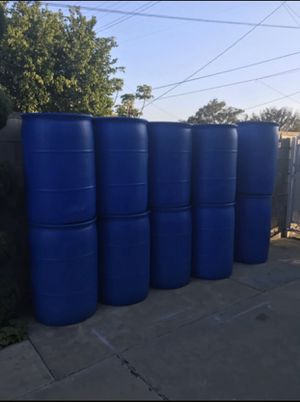 55 gallons plastic drums Super Clean ($10 each) for Sale in Alhambra, CA