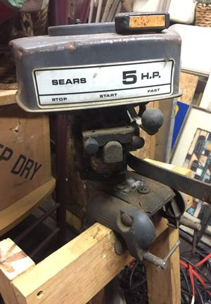 Sears 5 hp outboard motor as is pulls over for Sale in Detroit, MI