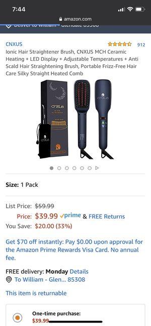 NEW Ionic Hair Straightener (beard brush) for Sale in Tucson, AZ