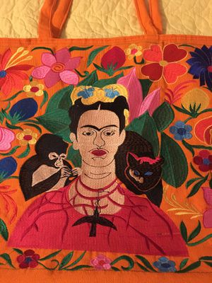 Embroidered Tote Bag - Frida Kahlo for Sale in Chicago, IL