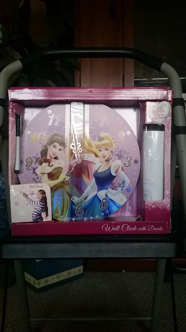 Disney Wall Clock and Decals