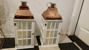 2 Lanterns with candles for Sale in Federal Way, WA