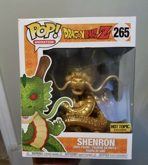 "Dragonball Z Golden Shenron 6"" Hot Topic Exclusive Funko Pop #265 - Box Flaws for Sale in Minneola, FL"