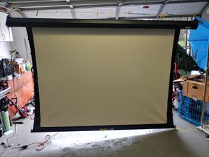 Powered up and down switch. Projector screen for Sale in Spring Hill, FL