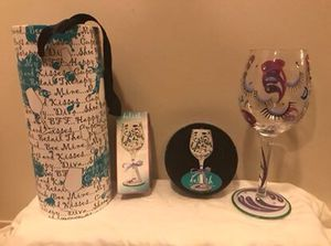 """!!REDUCED!! New Delish Hand Painted """"Diva"""" wineglass- WAS $15 NOW $10 for Sale in Paducah, KY"""