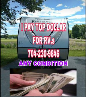 I buy RVs and campers for Sale in Gastonia, NC