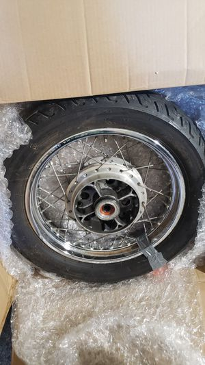 Vintage Motorcycle wheel with tire for Sale in Tampa, FL