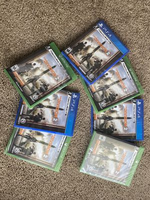 The division 2 PS4 and Xbox1 Brandnew never opened for Sale in Stoneham, MA