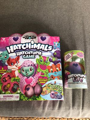 Hatchimals game and hatchtopia life collector plush for Sale in West Caldwell, NJ