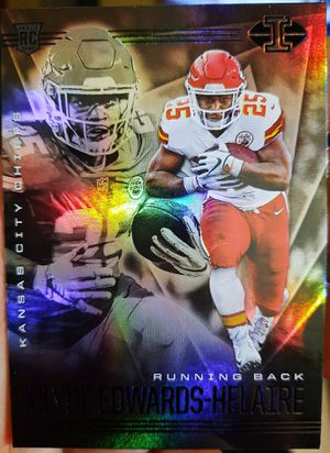 Clyde Edwards-Helaire #15 Rookie Card 2020 Panini Illusions Kansas City Chiefs Mint for Sale in Lexington, KY