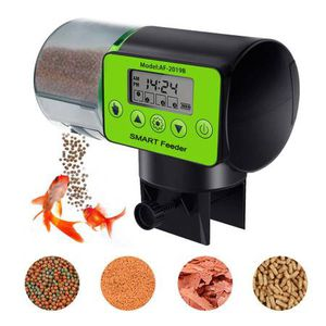 Digital Automatic Fish Feeder 200ml Mass Storage LCD Display Smart Moisture proof Electric Timer Everyday Fish Feeder Food Dispenser Vacation &Weeken for Sale in San Dimas, CA