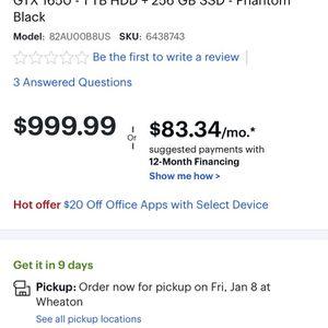 Lenovo Y540 for Sale in Silver Spring, MD