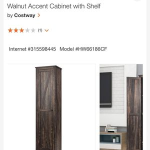 New Walnut Accent Cabinet With Shelf for Sale in Fresno, CA