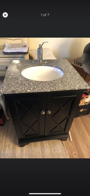 """Like new 24"""" Granite sink & faucet for Sale in Fort Washington, MD"""