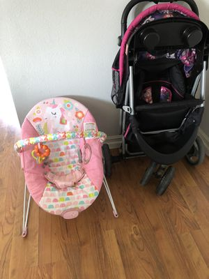 Free baby stroller & bouncer for Sale in Anaheim, CA