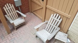 2 Adirondack Chairs and Table for Sale in Alexandria, VA