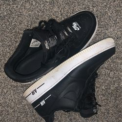 Air Force 1 All Black White Bottoms Nike Labeled Tongue for Sale in Knoxville, TN
