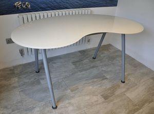 "Ikea Galant Kidney Shaped 63"" Glass Desk White for Sale in Scottsdale, AZ"