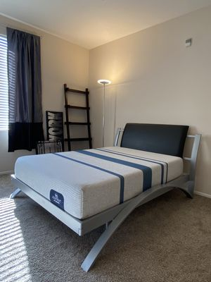 Full size bed frame $250 & mattress $250 for Sale in Moreno Valley, CA