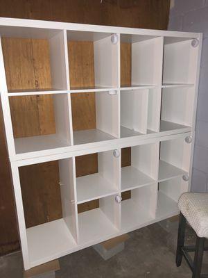 2 - 2x4 IKEA Kallax bookshelves. $90 for Sale in Freeport, NY