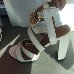 White strappy heels for Sale in San Jose, CA