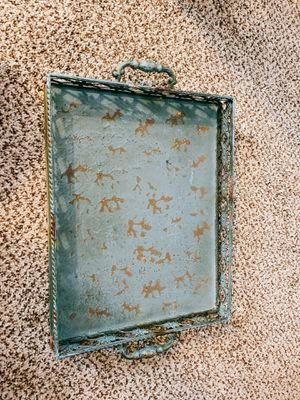 Turquoise tin tray for Sale in Riverside, CA