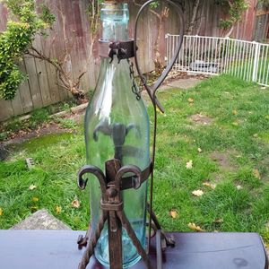Vintage Asbach Uralt Wrought Iron Holder whit Bottle Pouring Stand Decanter for Sale in Everett, WA
