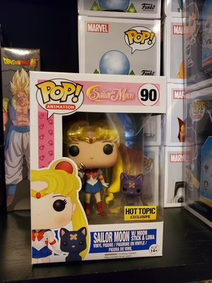 Sailor Moon with Moon Stick & Luna Funko Hot Topic Exclusive for Sale in North Bergen, NJ