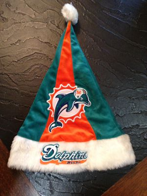 Dolphins Christmas hat and sock $30.00 both today for Sale in Homestead, FL