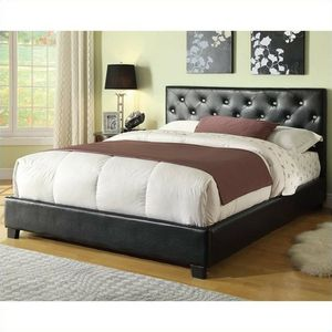 NEW Regina Black Upholstered Modern Queen Platform Bed Button Tuftin for Sale in KNG OF PRUSSA, PA