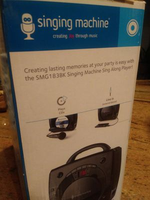Kareoke Singing Machine CD player with Microphone! for Sale in Tampa, FL