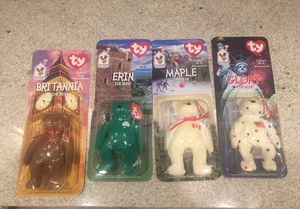 1999 McDonald's 4 beanie babies international new unopened for Sale in Baltimore, MD