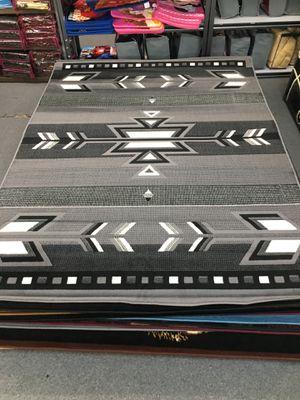 Grey color area rug brand new native southwestern style design for Sale in Salem, OR
