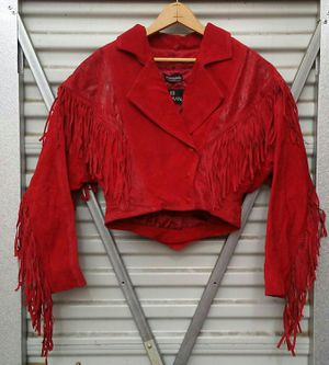 Vintage MOTORCYCLE leather women's jacket size s. 1980'S for Sale in Aurora, CO